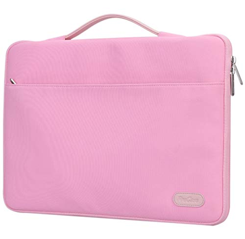 ProCase 14-15.6 Inch Laptop Sleeve Case Protective Bag, Ultrabook Notebook Carrying Case Handbag for MacBook Pro 16' / 14' 15' 15.6' Dell Lenovo HP Asus Acer Samsung Sony Chromebook Computer -Pink