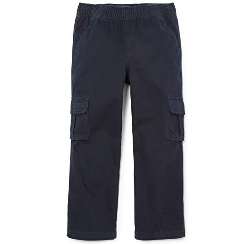 The Children's Place Little Boys' Pull-On Cargo Pant, New Navy, 4