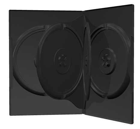 25 DVD CD Hüllen 4fach 4er-DVD-Box schwarz