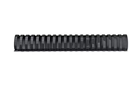 GBC 4028184 - Canutillo plástico DIN A4 21 anillas 32 mm ovalados (caja 50) color negro