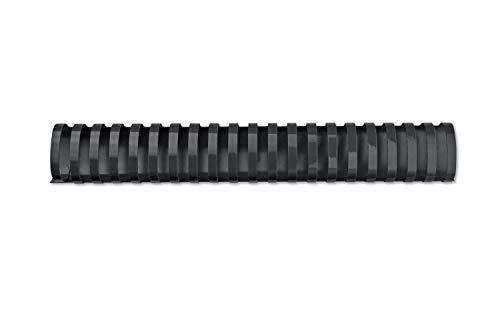 GBC Binderücken Plastik, A4, 21 Ringe, oval 32 mm, für 280 Blatt, schwarz (50 Stk)