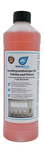 KaiserRein Urinsteinlöser Extra starker Profi Sanitärgrund-Reiniger für Toilette, WC, Boden-Fliesen 1L Konzentrat Urinsteinentferner extra stark