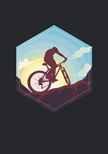 Notizbuch A5 liniert mit Softcover Design: Cooles Mountainbike MTB Fahrrad: 120 linierte DIN A5 Seiten