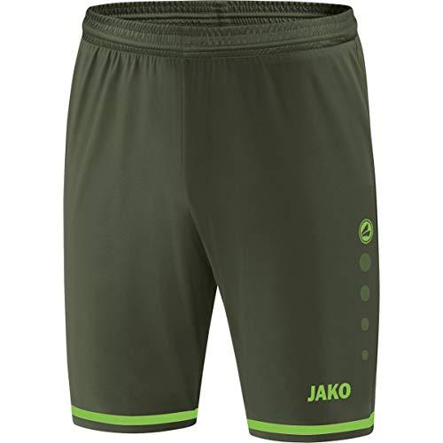 JAKO Striker 2.0 Shorts de randonnée, Kaki/Vert Fluo, XL Homme