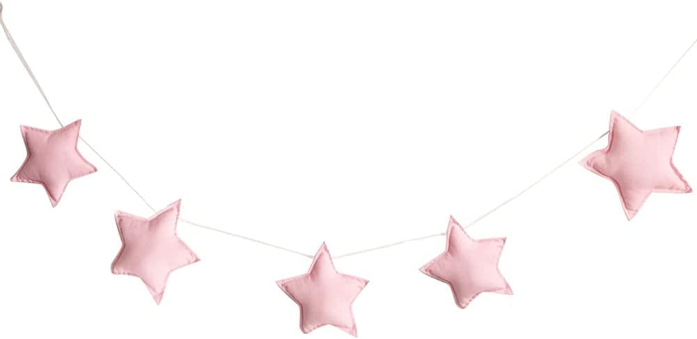 5pcs depot 2m Milwaukee Mall Nordic Style Cute Ornaments String Hanging Banner Stars