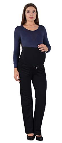ESRA Damen Schwangerschaftshose Umstandshose Sporthose für Schwangerschaft Umstandsmode Hose J481