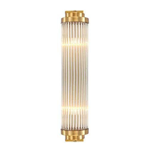 Faus Koco Luz De Pared Moderna Lámpara De Pared De Cristal De Lujo Apliques LED Creativos Cuerpo De Lámpara De Galvanoplastia De Hierro Transparente, Cobre, A