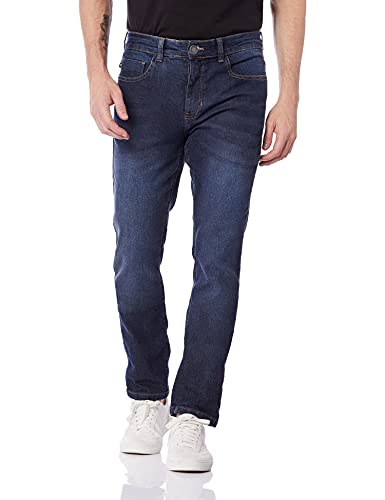Calça Jeans Masculina Slim Com Elastano Hering, Azul Escuro, 044