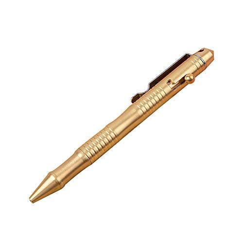 Hemore Massivem Messing Pen mit ausziehbarem Refills und Bolt Aktion Tragbare Empfindliche Unterschrift Pen Kugelschreiber für Business Office 0.5mm 1PC