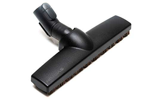 Brosse de parquet Premium pour sols durs Miele S8000, S6000, S5000, S4000, S4561, S2000, S500, S227, S140, S168, Classic C1 complet C3 Compact C2 (3 roues/plastique/cheveux naturels, 35 mm)
