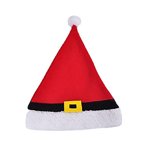 ManxiVoo Christmas Hat, Xmas Hat Holiday for Adults Unisex Santa Hat for Christmas Holiday Party Supplies (D)