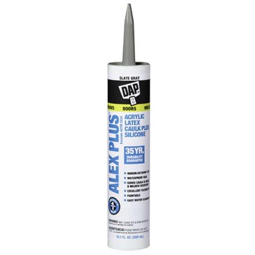 Dap 18110 Acrylic Latex Caulk With Silicone, 10 1-Ounce, Slate Gray