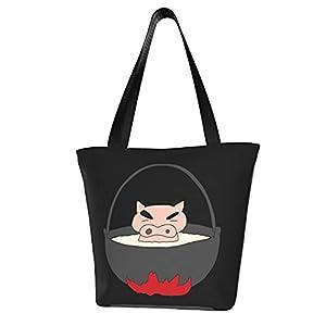 ぶりぶりざえもん (1) オシャレ レディーストートバッグ 買い物袋 コンパクトバッグ 多機能ワークバッグ カジュアル ハンドバッグ