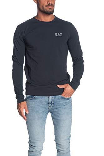Emporio Armani T Shirt Manica Lunga Uomo blu Navy, XXL