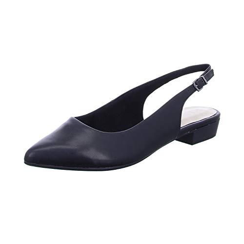 Tamaris 1-1-29402-24, Zapatos de Talón Abierto Mujer, Negro Mate 020, 37 EU