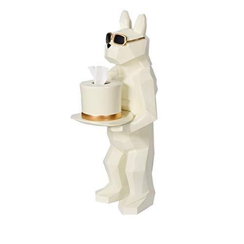 Xiaoyu Tissue Box Tissue Houder, Koffie Tafelhars Opbergdoos Woonkamer Eetkamer Zakdoek Box Home Decoratie Staande Hond