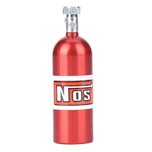 Tbest Botella de óxido Nitroso, simulación de aleación de Aluminio Mini Nos Recipiente de óxido Nitroso Apto para 1/10 RC Crawler Car(Rojo)