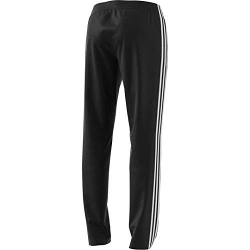 adidas Women's Essentials 3-Stripes Tricot Tapered Pants, Black/White, XX-Large
