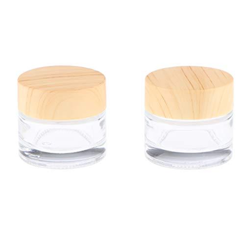 Almencla 2 Uds Botella Vacía Rellenada Tarro de Maquillaje Cosmético Bote Crema Envases de Bálsamo Labial - 10g, Individual