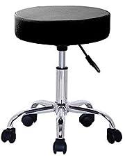 Cris nails - taburete giratorio con ruedas, taburete rodante regulable para trabajo, estudio, oficina, clínica (color negro)