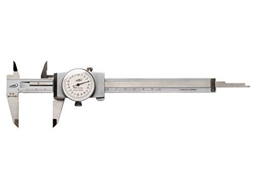 Helios di PREISSER 0217501calibro a corsoio digitale orologio in acciaio inox cromato, con lancette rotazione 2mm, 150X 40mm
