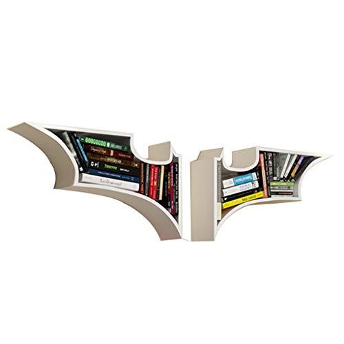 Bibliothèques Enfants De Étagère Murale Chambre d'enfant Batman Salon Chambre Tenture Rack De Rangement Décorative Creative Étagère (Color : Blanc, Size : 156 * 15 * 47cm)