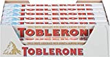 Toblerone Swiss White Chocolate Bars With Honey & Almond Nougat, 20 - 3.52 Oz Bars,, 20Count