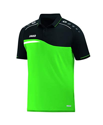 JAKO Herren Polo Competition 2.0, Soft Green/schwarz, 4XL