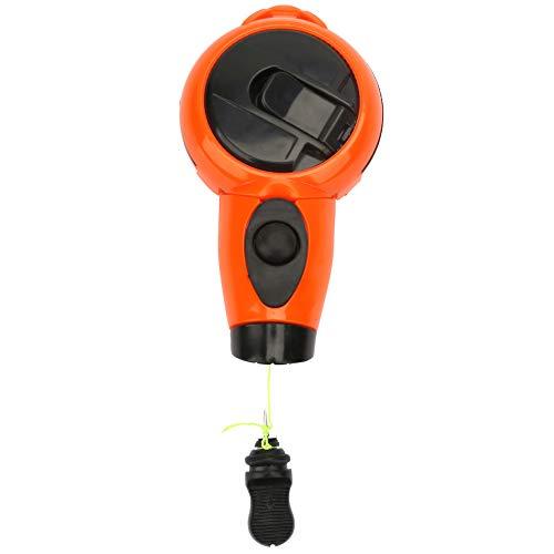 Herramienta de línea de tiza para carpintería Resina ABS Mini fuente de marcador de tinta de carpintero Diseño de cuerda de devolución de llamada automática Línea de tiza de conducto(Nylon Wire 25m)