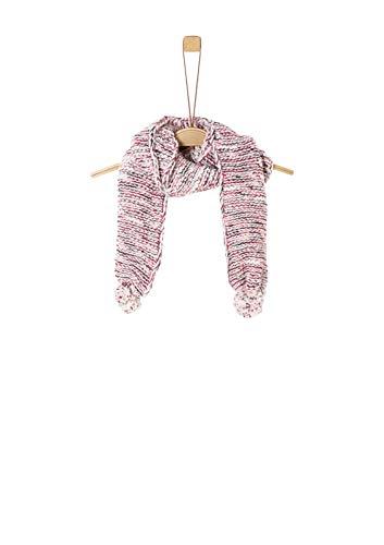 s.Oliver Mädchen 58.909.91.3857 Schal, Elfenbein (Ecru Knit 04x0), One Size (Herstellergröße: 1)