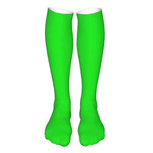 DearLord Kniestrümpfe, kniehoch, warm, leistungsstark, sportlich, leger, Neongrün