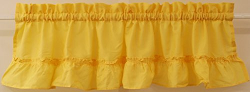 The_Curtain_Shop Stacey Solid Insert Valance 54Wx13L Yellow