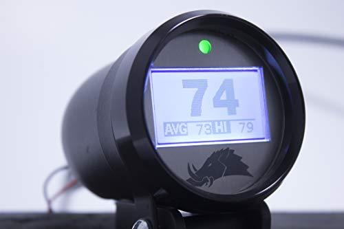 Belt Temperature Gauge w/Infrared Sensor (for UTVs and Snowmobiles) - 3.0 Edition (Polaris RZR 2-Seater, Black)