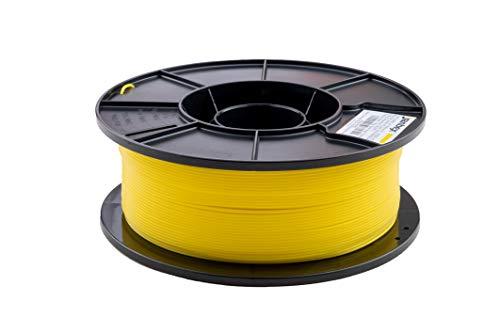 JANBEX PLA Filament 1,75 mm 1kg Rolle für 3D Drucker oder Stift in Vakuumverpackung (Zitronen Gelb)