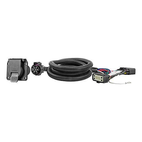 CURT 56413 Vehicle-Side Custom RV Blade 7-Pin Trailer Wiring Harness, Select Ford F-150,Black