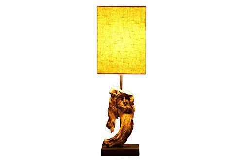 DuNord Design Tischlampe Treibholz Lampe Schwemmholz Lampe JAVA beige Naturholz Unikat