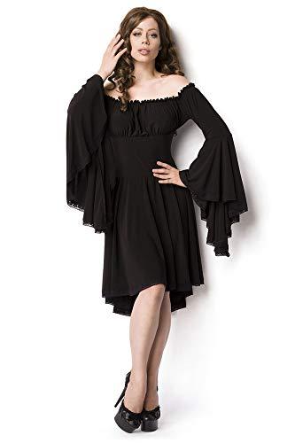 Atixo piraten middeleeuwse jurk - zwart