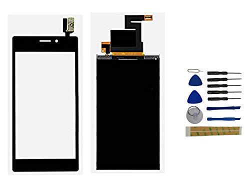 Yixi Pantalla para Sony Xperia M2 D2302 D2303 M2 Aqua D2403 D2406 Pantall LCD Pantalla Táctil Negro Repuesto de Pantalla Recambio (sin Marco)