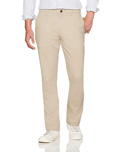 Amazon Brand - Goodthreads Men's Straight-Fit Washed Comfort Stretch Chino Pant, Khaki, 34W x 32L