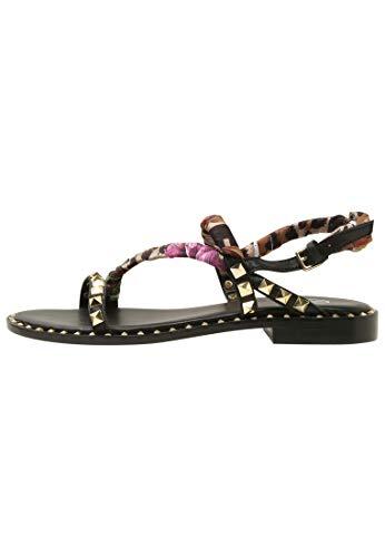 SS19-M-128025-004 Pattaya dames modieuze sandaal van glad leer elastiek