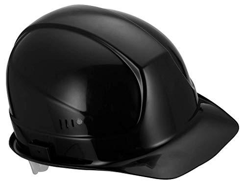 Uvex Superboss Arbeitshelm - Mit Slots für Gehörschutz (Schwarz)