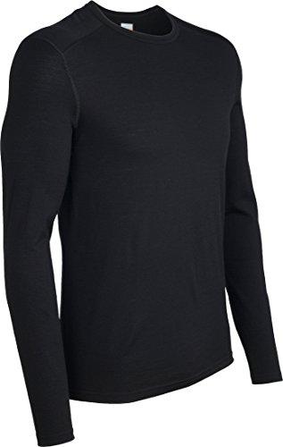 Icebreaker Merino Men's Oasis Long Sleeve Crewe Top, Black, Small