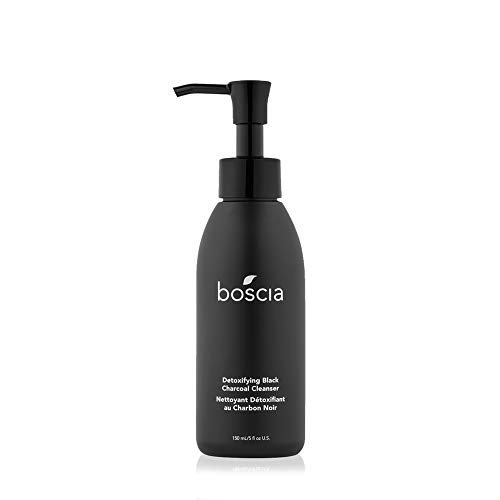 boscia Detoxifying Black Charcoal Cleanser - Vegan, Cruelty-Free, Natural and Clean Skincare | Activated Charcoal and Vitamin C Warming Gel Face Cleanser, 150mL