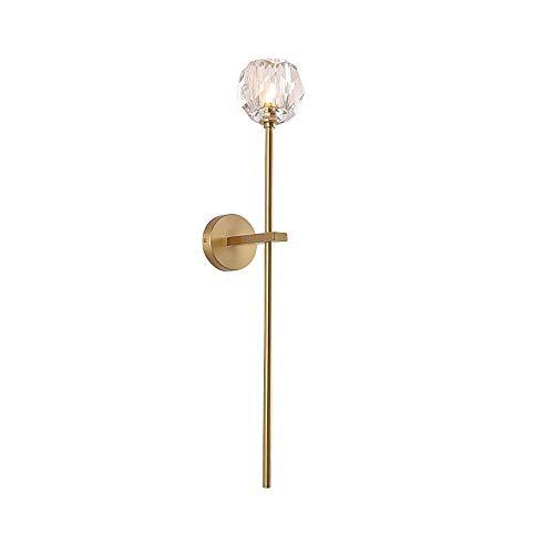 ZMY American Brass Lámpara de Pared Moderna Minimalista Minimalista Luz de Muro de Lujo Luminaria Luminaria Casero de Corredor Iluminación de la Cama de la Cama