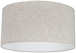 QAZQA Moderno Algodón y poliéster Pantalla tela gris pimienta 50/50/25, Redonda/Cilíndrica Pantalla lámpara colgante,Pantalla lámpara de pie