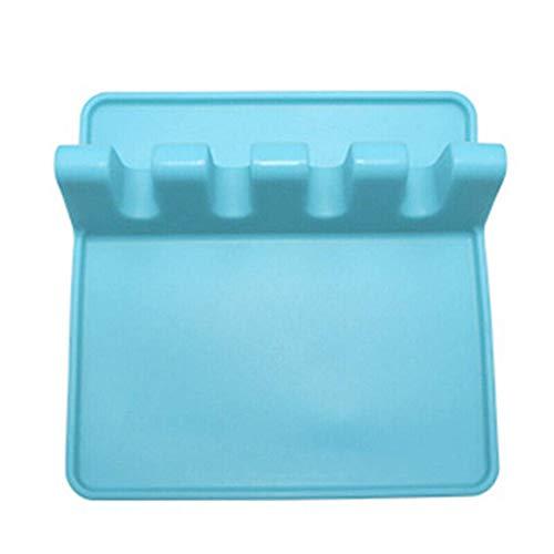MZH QRYY Pz Portautensili in Silicone da Cucina con tampone antigoccia per più Utensili contemporaneamente, Resistente al Calore, poggia-Cucchiaio Senza BPA e Porta Cucchiaio per Piano Cottura,