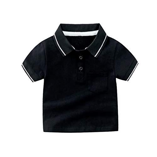 Julhold Peuter Baby Jongen Kid Leuke Mode Vrije tijd Korte Mouw Effen Gentleman Tops Katoen T-Shirt Kleding 1-5 Jaar Nieuw