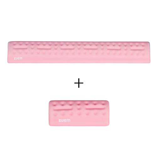 Handgelenkauflage aus Kieselgel 57cm * 1,7cm * 5,5cm Mauspad Handgelenk-Speicherwattepad (Farbe : Rosa)