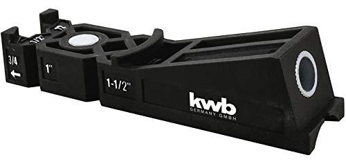 kwb 758600 Taschenloch-Bohrschablone/Bohrlehre inkl. 9 mm Bohrer, Tiefenstop und TX-20 Bit 150 mm