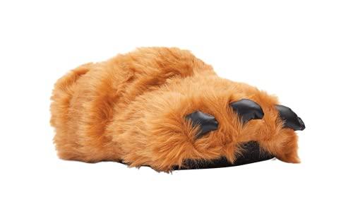 9090-2 - Brown Claw - Medium - Happy Feet Animal Slippers
